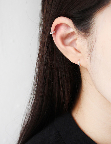 QU tiny ring earrings그랩(GRAB)