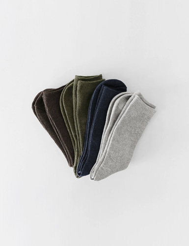 fine ribbed cotton socks (ver.2)그랩(GRAB)