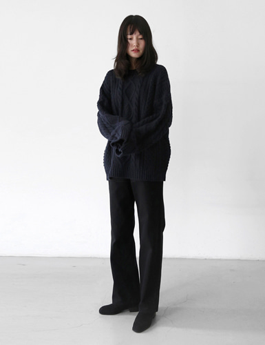 comfy straight cotton pants그랩(GRAB)