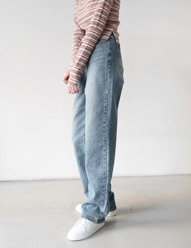 straight denim pants그랩(GRAB)